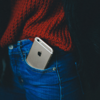 iPhone in a pocket